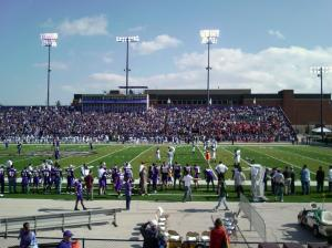 Student Section - Lots of Purple, Tiny little red opposing team section.