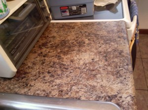 Mocha Chocolatte Counter top - the color looks right in this picture