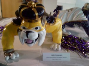 Painted to honor JMU's Super Fan... Madison man
