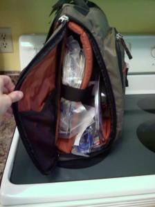 computer bag full of stuff
